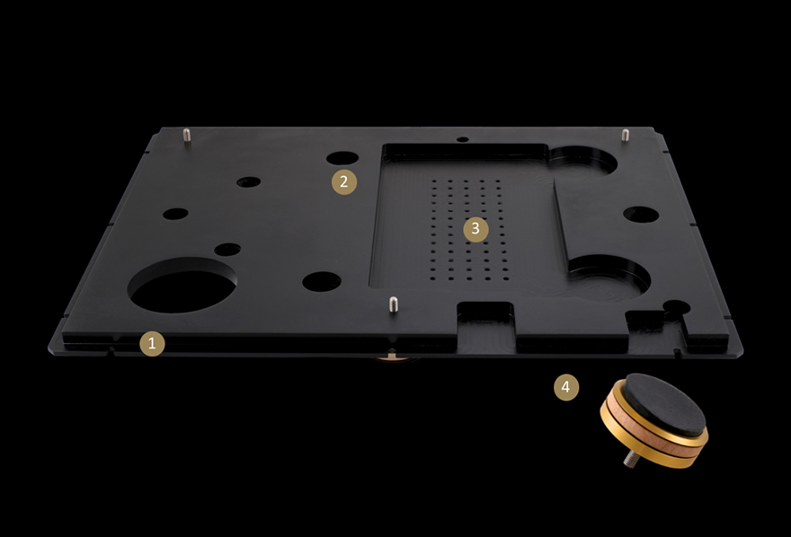 StackAudio LP12 Serene Base Board made from Solid Surface with Ultimate feet