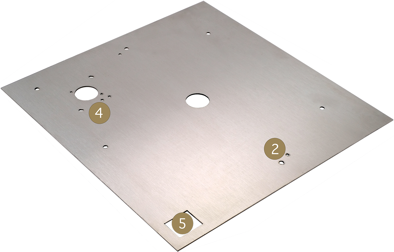 StackAudio Serene Top Plate upgrade for LP12 in brushed stainless steel, top surface