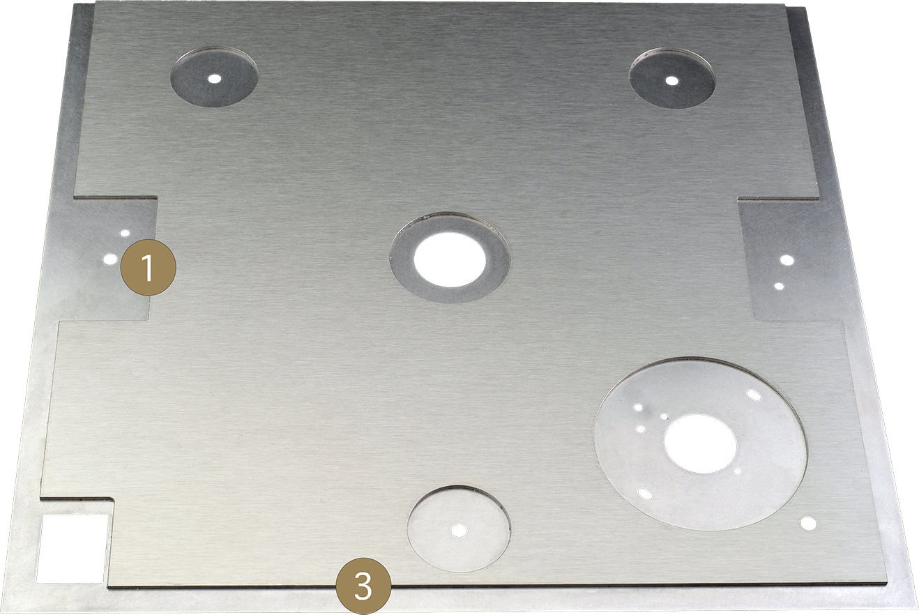 StackAudio Serene Top Plate upgrade for LP12 showing machined steel frame on underside bonded with AVDC